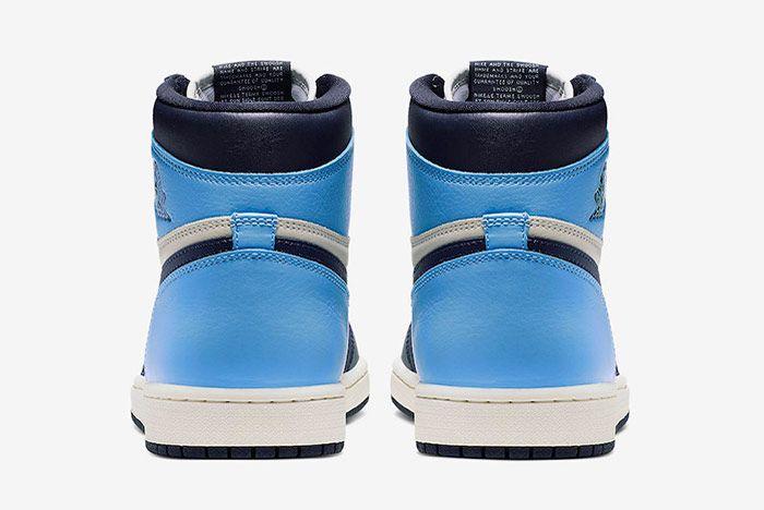 Air Jordan 1 Obsidian University Blue Heel
