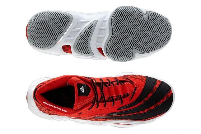 Adidas Realdeal Cheetah Red Split Sole Aerial 1