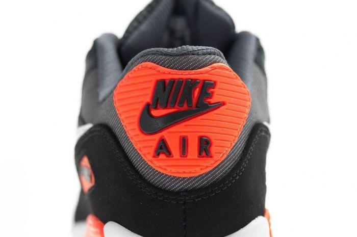 Nike Air Max 90 Black Total Crimson Heel 1