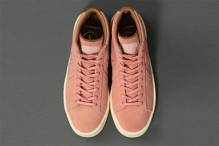 United Arrows Poggy Converse Pro Leather Mid Pink 2