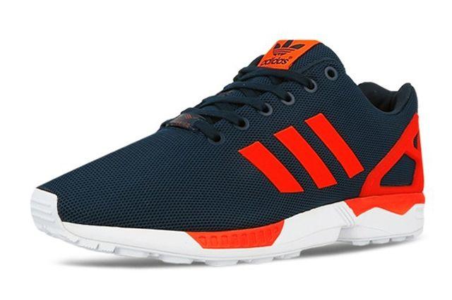 Adidas Originals Zx Flux Dark Blue Solar Red 6