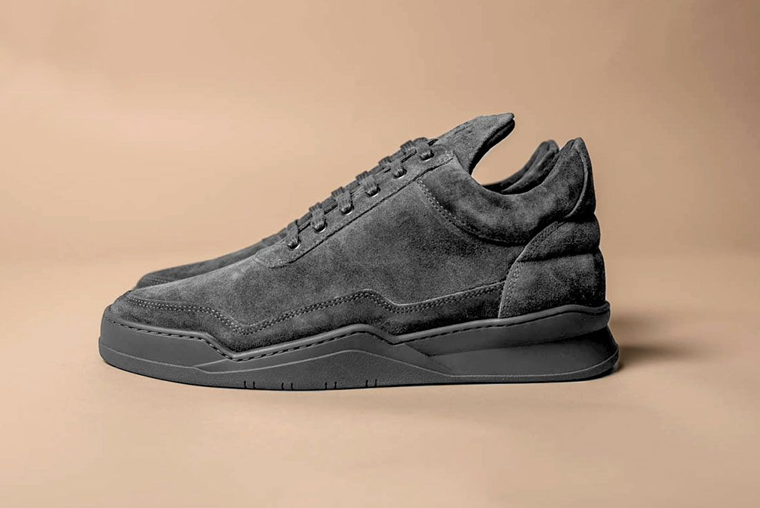 Filling Pieces Low Ghost Grey Suede 1