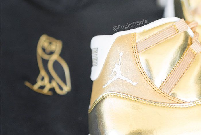 Air Jordan 11 Ovo Metallic Gold Sample 8 Ig Leak