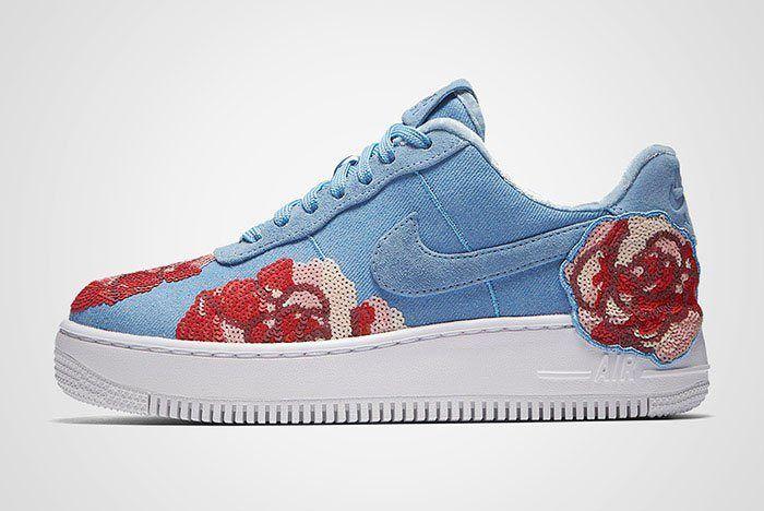 Nike Air Force 1 Denim Floral Seqine Thumb