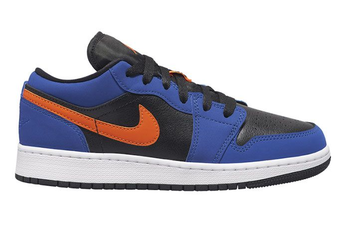 Air Jordan 1 Low Gs Blue Orange Right Side Shot
