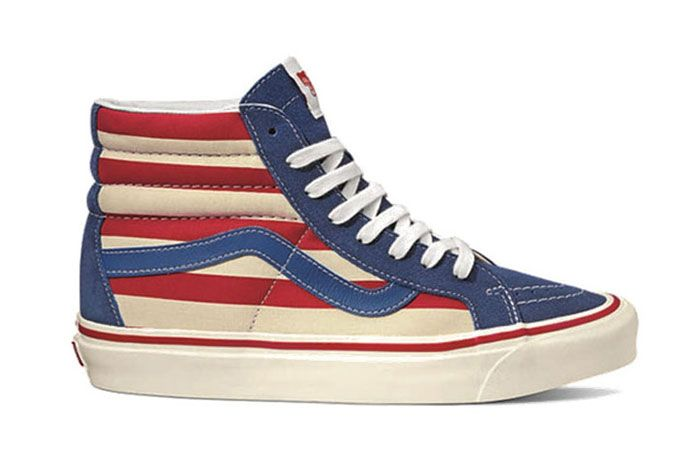 Vans Anaheim Factory Sk8 Hi Red Stripes Pack Release Date Side