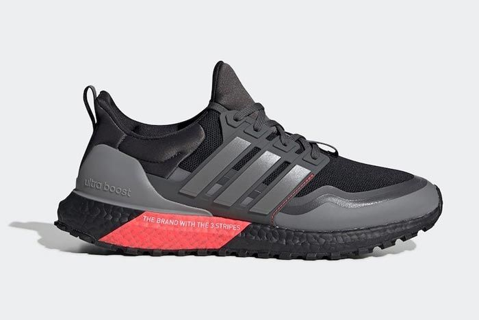 Adidas Ultraboost All Terrain Black Red Grey Lateral