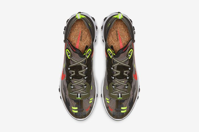 Nike React Element 87 Camo Cj4988 200 Release Date Top Down