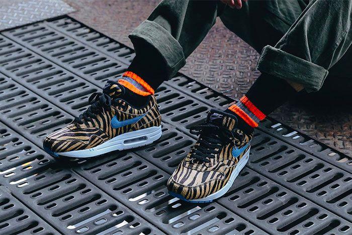 Atmos Nike Air Max 1 Animal 3 0 Pack On Foot Tiger Three Quarter Angle Shot