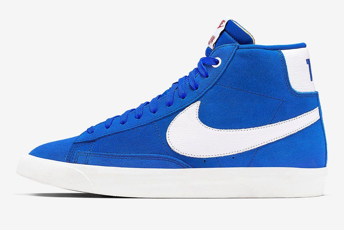 Stranger Things Nike Blazer Blue Og Collection Ck1906 400 Medial Side Shot