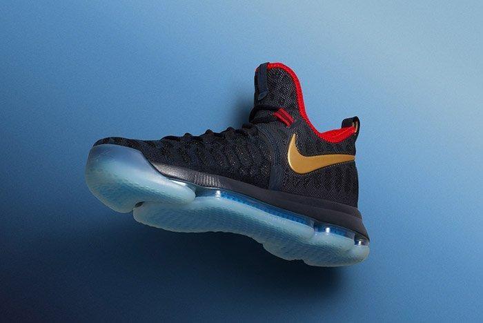 Nike Zoom Kd 9 Dark Obsidian Gold Olympic 5