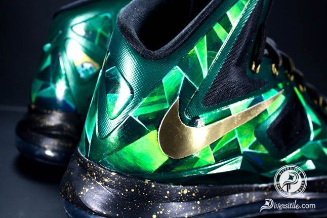 Lebron Emerald Diversitile Custom Swoosh 1