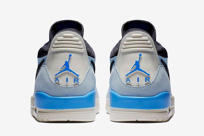 Jordan Legacy 312 Low Pale Blue Cd7069 400 Release Date 5 Heel