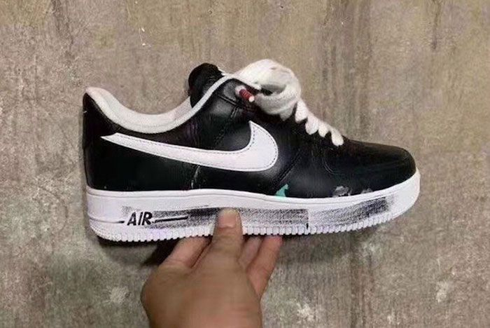 Peaceminusone Nike Air Force 1 Black White In Hand