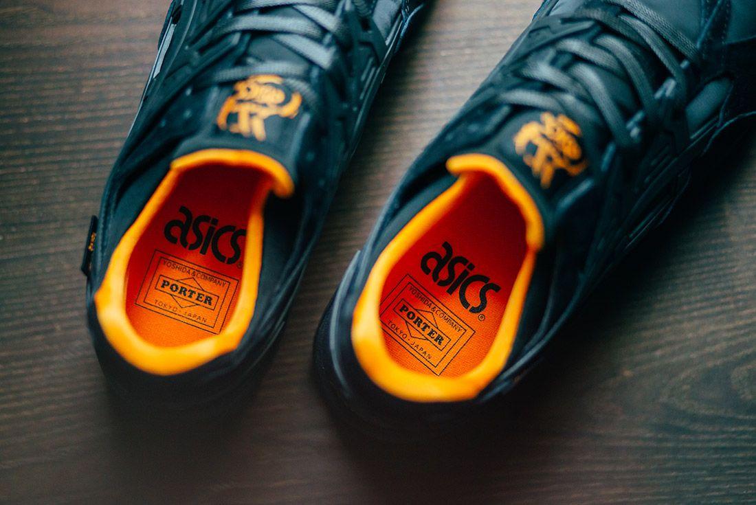 Porter Asics Gel Kayano Trainer Black Orange 4