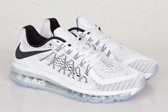 Nike Air Max 2015 White Black Bumper 4