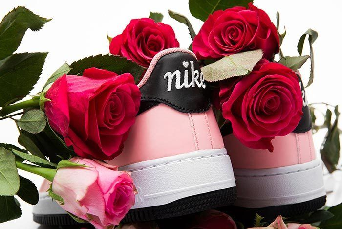 Nike Air Force 1 Valentines Day Bleached Coral Heels