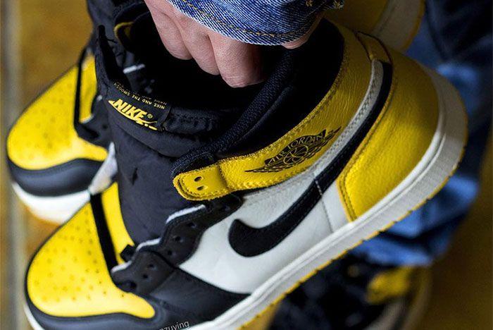 Air Jordan 1 Yellow Toe Close
