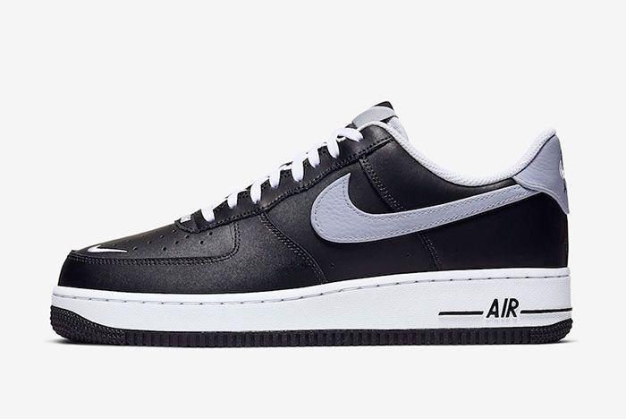 Nike Air Force 1 Low Black Wolf Grey Cj8731 001 Release Date Side