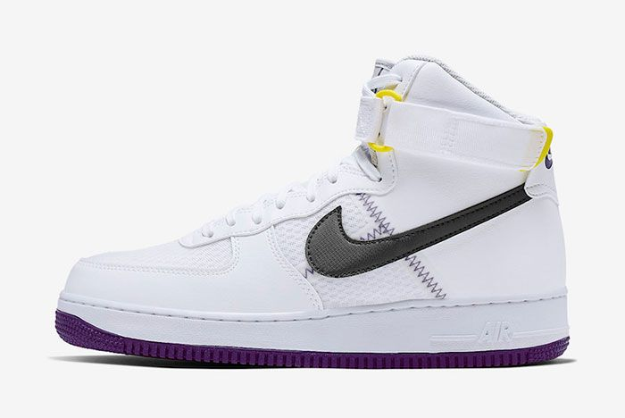 Nike Air Force 1 High White Court Purple Ci1117 100 Lateral