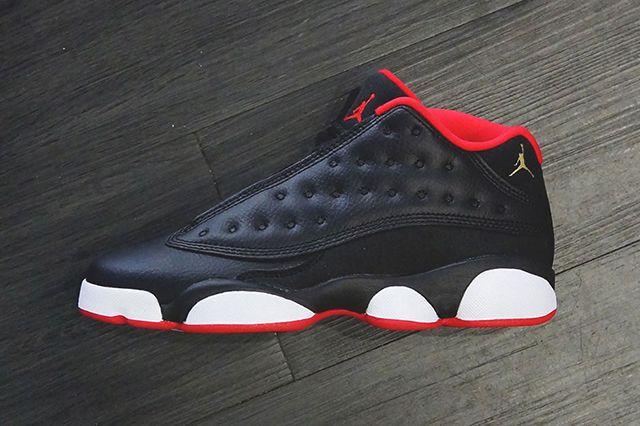 Air Jordan 13 Low Black Red Gold Gs 2