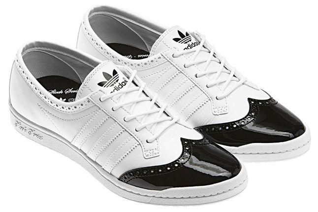 Adidas Top Ten Low Sleek Brogue White Pair 1