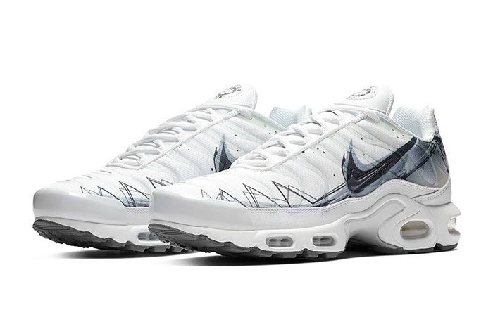 Nike Air Max Plus Le Requin New White Quarter