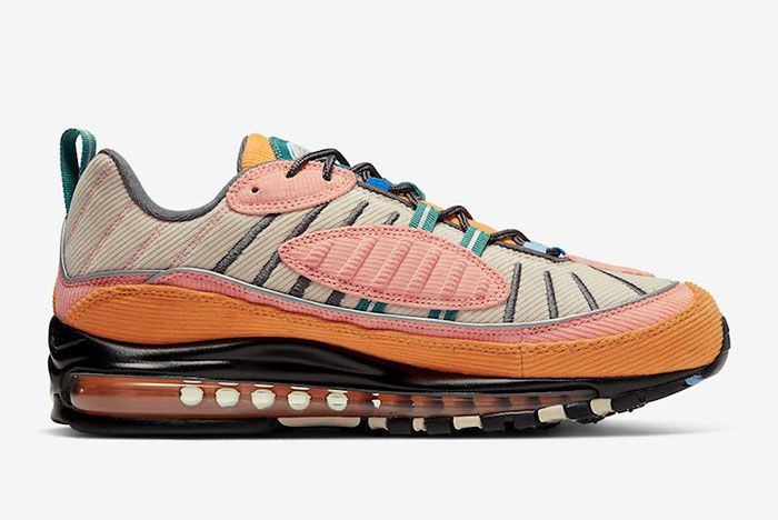 Nike Air Max 98 Corduroy Cq7513 814 Release Date 2Side