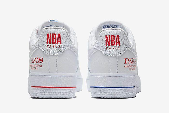 Nike Air Force 1 Low Nba Paris Cw2367 100 Heel