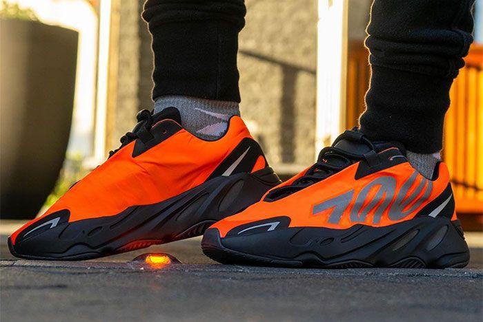 Adidas Yeezy Boost 700 Mnvn Orange Left 2