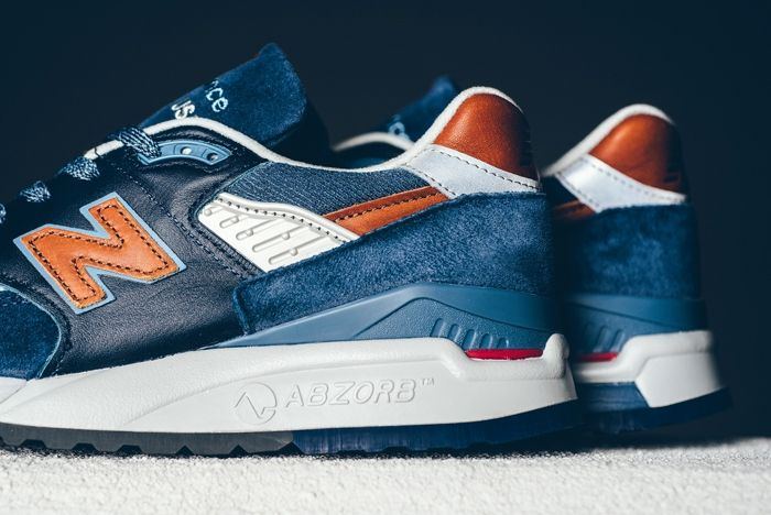 New Balance 998 Camel Blue Sneaker Politics Bump 4