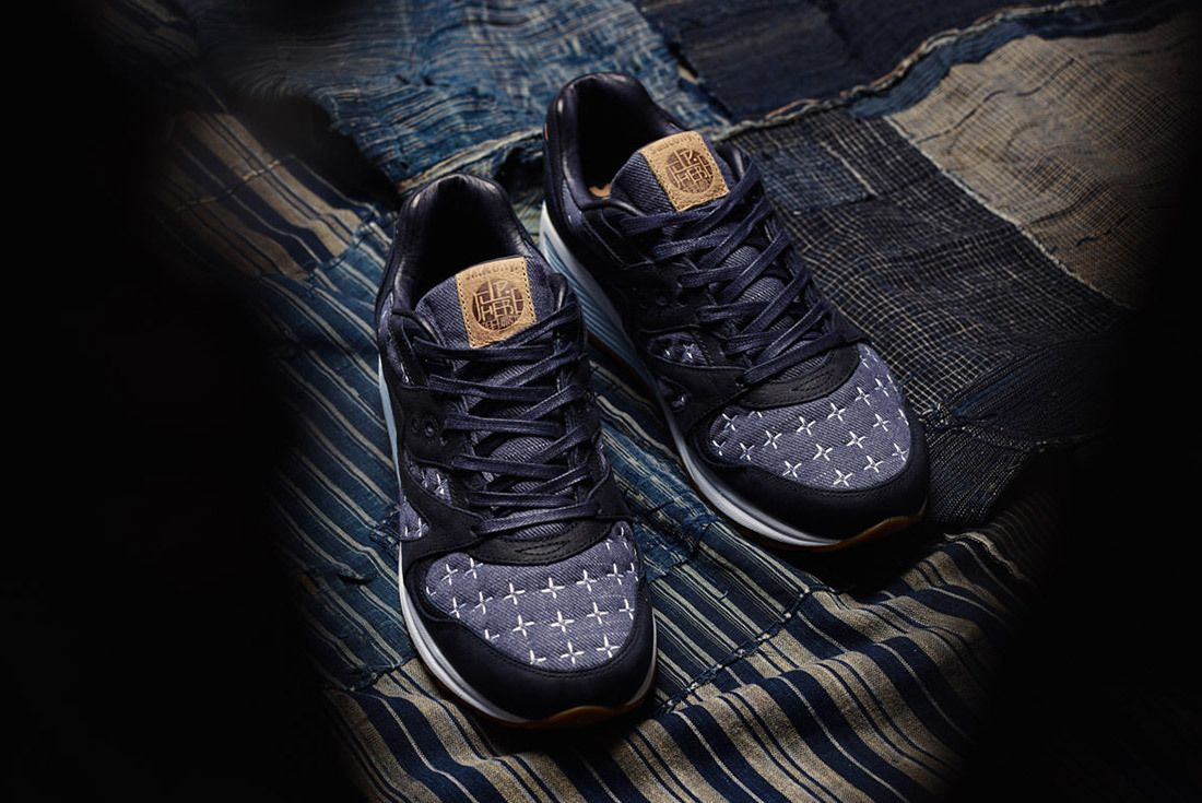 Up There Store Saucony Grid 8000 Sashiko Sneaker Freaker 11