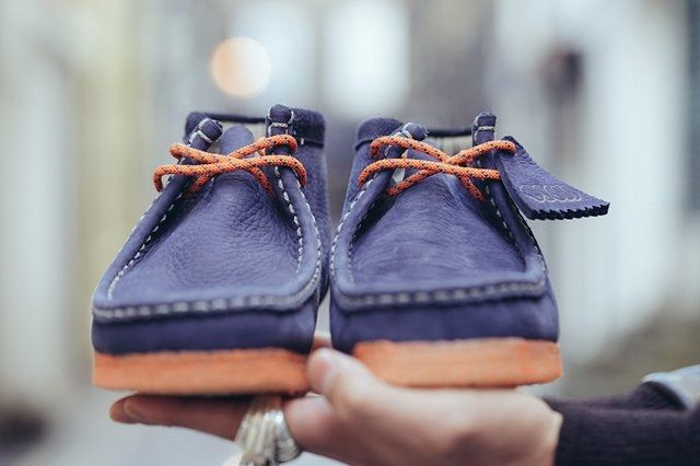 Doom Clarks Wallabee Boot Navy Bumper 2