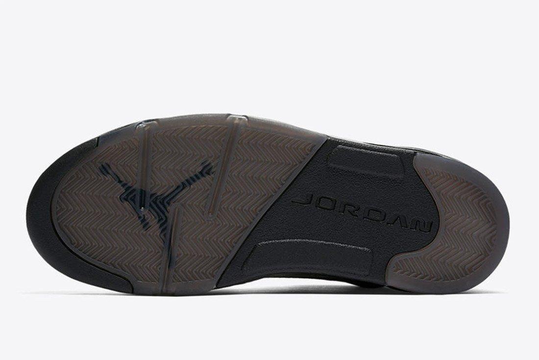 Air Jordan 5 Premium Triple Black Leather 5
