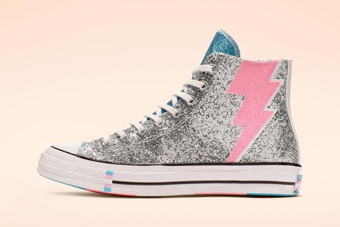 Chuck 70 Pride High Top Glitter Lateral