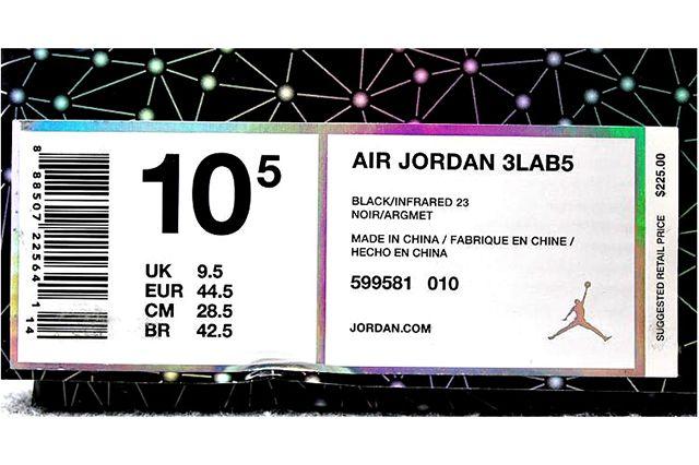Air Jordan 5 3 Lab5 Infrared