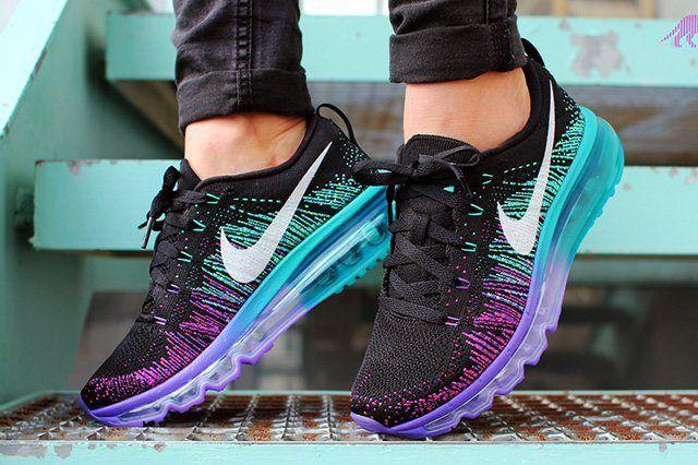 Nike Flyknit Max Purple Venom Turbo Green 3