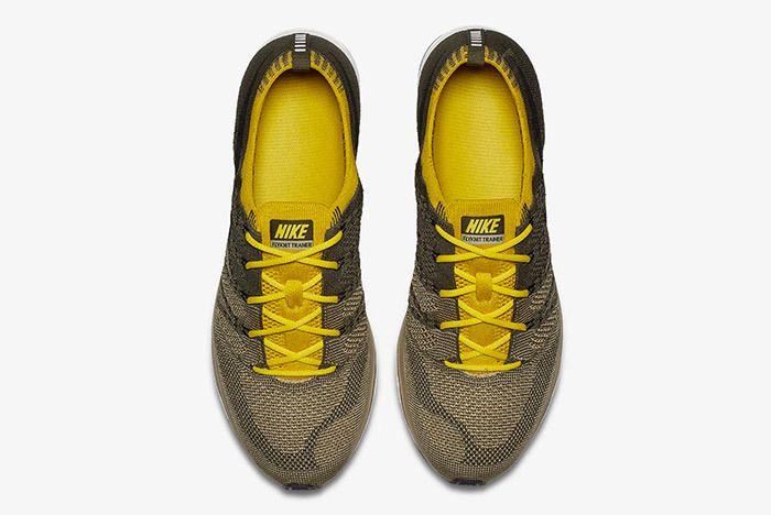 Nike Flyknit Trainer Cargo Khaki Citron 3