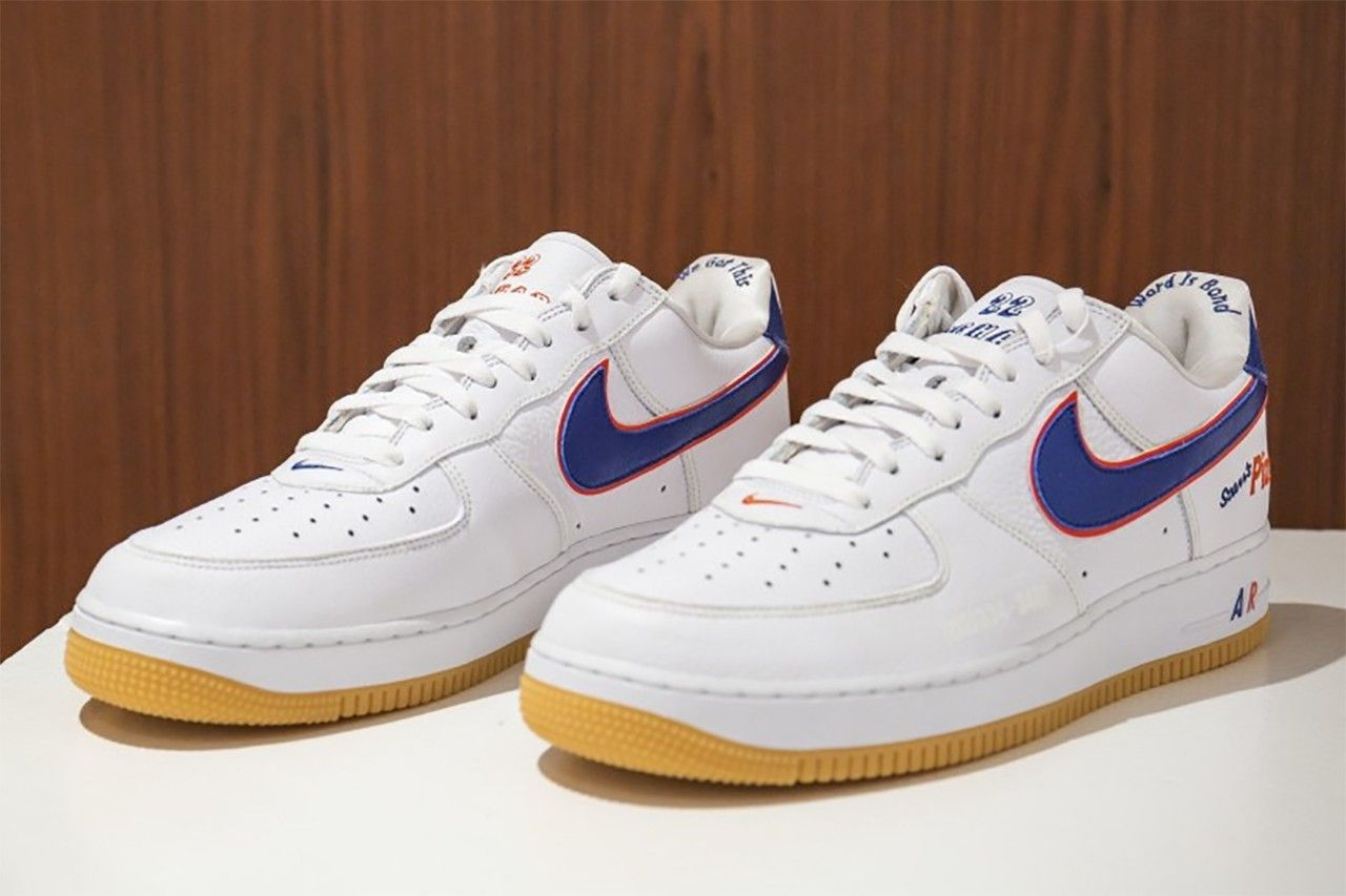 Scarr's Pizza x Nike Air Force 1 Pair sotheby's