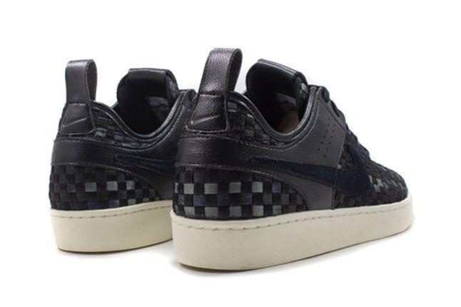 Nike Nsw Courtside Woven Black Heels 1