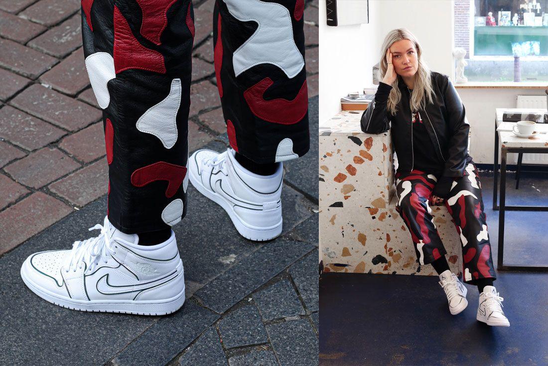 Snipes Air Jordan 1 Mid Womens Reflect On Foot