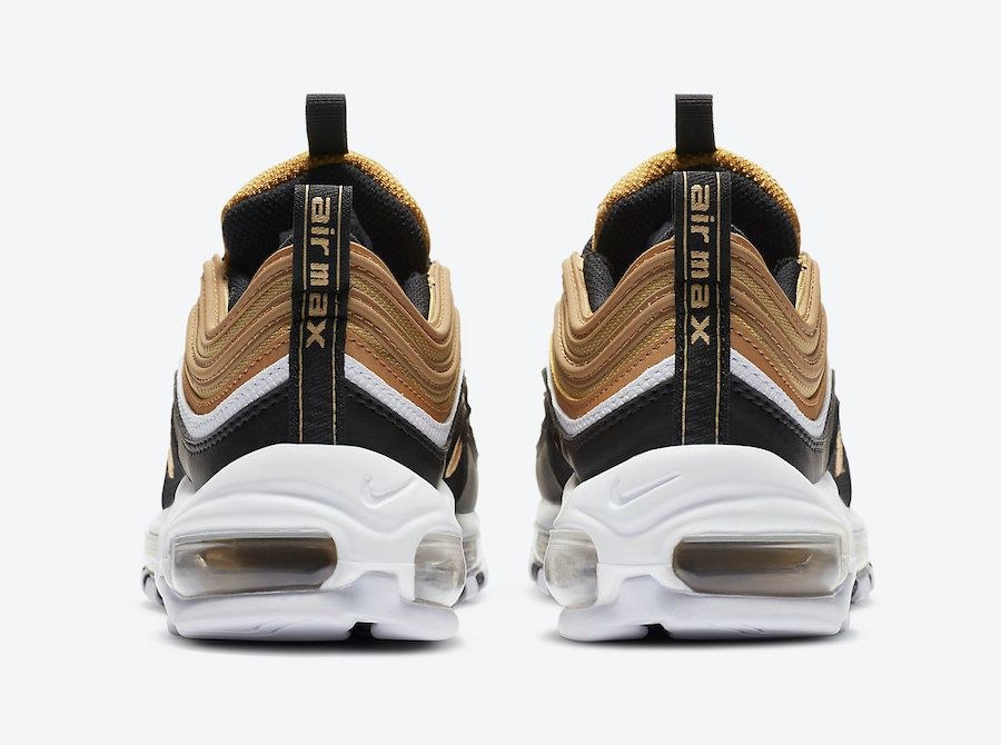 Nike Air Max 97 Black and Gold Heel