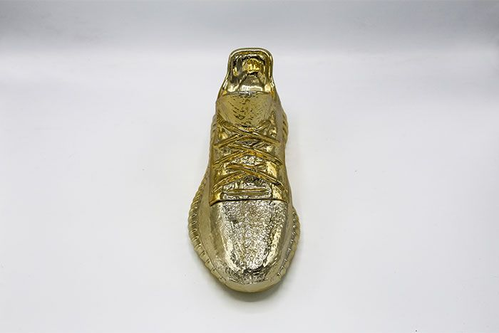 Yeezy Boost 350 Gold Candle Sculpture Front Shot 4