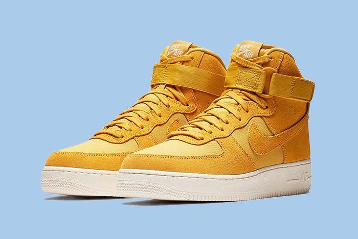 Nike Air Force 1 Hi Suede Pink Blue Yellow 9 Sneaker Freaker