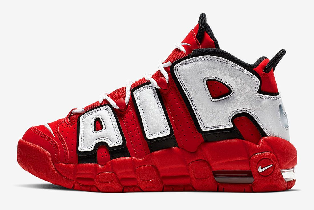 Nike Air More Uptempo Cd9402 600 University Red Black Summit White White 2 Side