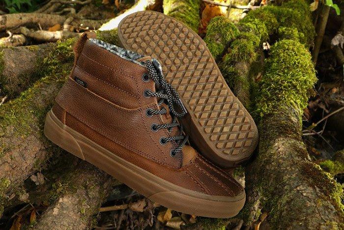Vans Sk8 Hi Del Pato Mte Leather Brown 1