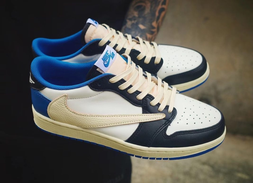 travis scott fragment air jordan 1 low leak