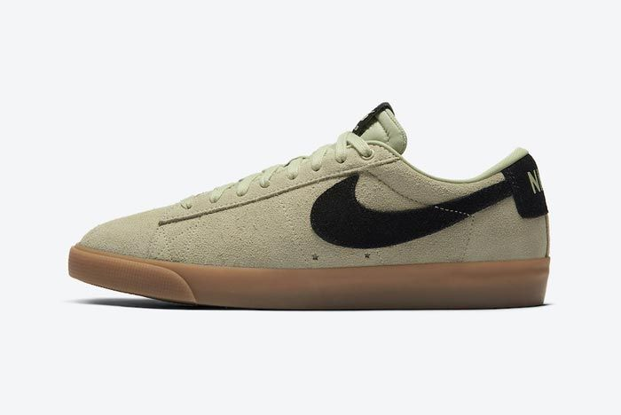 Nike Sb Blazer Low Olive Aura Lateral