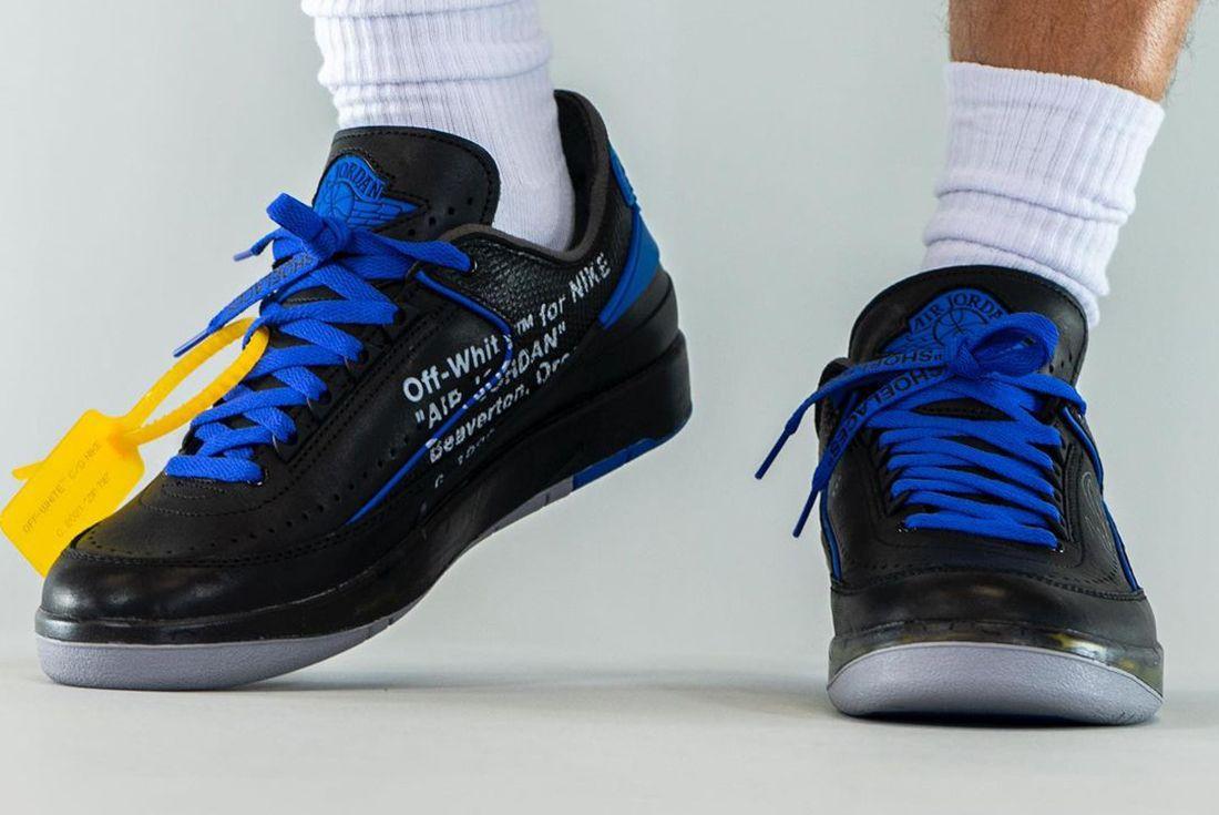 Off White Air Jordan 2 Low Black Blue