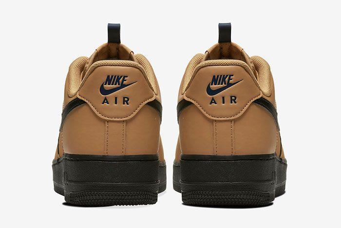 Nike Air Force 1 Low Wheat Black Bq4326 700 Heel